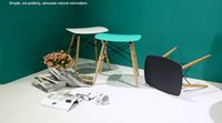 bar stools - Eames stool Wood Plastic chair wood dining chair living room furniture Wait stool bar stool dining chair