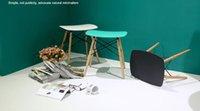 living room furniture - Eames stool Wood Plastic chair wood dining chair living room furniture Wait stool bar stool dining chair