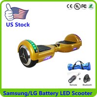electric scooters - Ship From US Electric Scooter Bluetooth Samsung Battery Unicycle Smart Balance Scooters Inch Self Balancing Hoverboard Wheel Skateboard