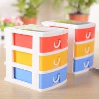 Wholesale 3 organizer plastic cute storage box color mm send in random