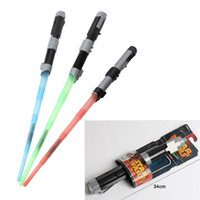 Wholesale Star Wars lightsabers Extendable Electronic Lightsaber Led Flashing Light Sword Star Wars Toys The Movie Star Wars Props