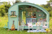 dollhouse miniature - Wooden Dollhouse Miniature DIY House Model DIY kit Little RVS Display RVS