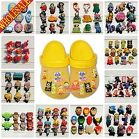 Wholesale Free DHL Mix Models Minions Avengers Cartoon shoe bucklt shoe charms shoe accessories fit for Jibbitz Bracelets for clogs kids gift