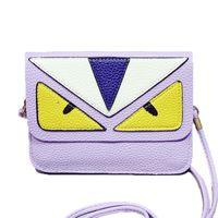 Wholesale Fashion casual monster handbags shoulder bag women messenger bags mini phone bags day clutches wallets small bag black white