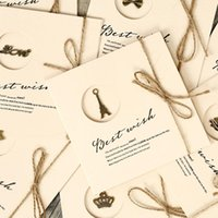 best wedding greeting card - 30pcs Vintage Assorted Best Wishes Greeting Card With Envelope And Jute Cord Christmas Wedding TL
