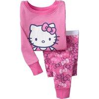 designer baby clothes - Winter Baby Girls Clothes Set Children Clothing Set Hello Kitty Girls Tracksuit Designer Kids Clothes Cartoon Christmas Pajamas