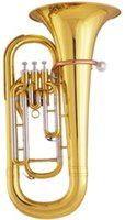 Wholesale Three Pistons Euphonium in Bb with ABS case and mouthpiece EMS Factory Supply