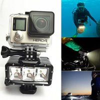Wholesale Gopro accessories waterproof LED Video Light Dive Lighting with Mount lights for GoPro Hero SJ4000 SJCAM Camera Diving deep m