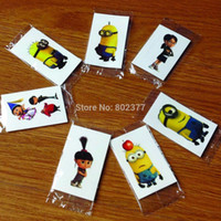 Wholesale 2015 Golds Tattoos Tattoos Gold Tattoo All x3cm eco freindle Despicable Me Sticker Temporary Stickers