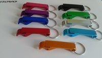 Wholesale Multi function aluminum alloy key chain bottle opener key chain car key rings personalized LOGO laser engraving process