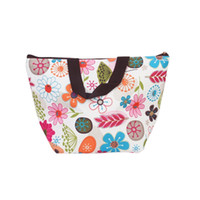 Wholesale Hot sell Lunch Box Bag Tote Insulated Cooler Carry Bag for Travel Picnic Floral Pattern