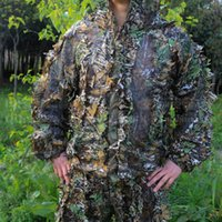 Wholesale D Leaves Camofulage Hunting Ghillie Clothes Hunting Suits