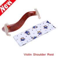 Wholesale New Arrival Violin Shoulder Rest Maple Wood Fit Fiddle Violin with Cleaning Cloth Retail