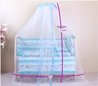 Wholesale FreeShipping HotSelling infant kids Baby Bed Mosquito Mesh Dome floor type Curtain Nets for Child bed Super density mesh cloth summer