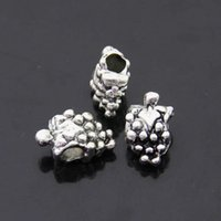 large hole beads - Jewelry Making Vintage Strawberry Shape Metal Beads With Large Hole EBD049