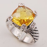 Cheap Citrine Women 925 Sterling Silver Ring F714 Size 6 7 8 9 10