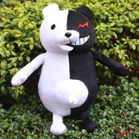 Wholesale 40cm Danganronpa MonoKuma Black White Bear Plush Doll Toy for kids or cosplay