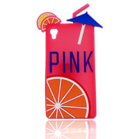 soft drink - PINK Lemon Fruit Drinks Phone Cases Silicone Rubber Soft Back Cover For iPhone S S S Plus For Samsung Galaxy S6 S6EDGE G350 G355 LG