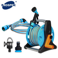 Wholesale 1 Set Water Spray Gun and Hose Reels Plastic Powerful Tools Garden Car Watering Pipe Squirt Gun Suit