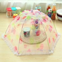 Wholesale Kitchen Food Cover BBQ Cooking Tools Strawberry Spot For Mesh Protection Fruit Vegetable Umbrella Shaped