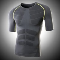 Wholesale New Arrival Men Running T Shirts Summer Tops Slim Fit Sport Shirt Quick Dry Fitness Shirt