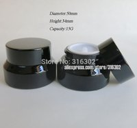 jar glass - G Black Glass Jar With Black Lids G Glass Container Cosmetic Packaging G Glass Cream Jar