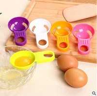 Wholesale 3pcs Colorful Egg Separator Kitchen Gadget Household PP Egg White Yolk Filter Separator Divider Kitchen Tool Egg Yolk White Separator
