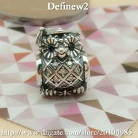 Wholesale Silver Owl Charm ale sterling silver charms loose beads diy jewelry for thread bracelet DF541