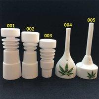 Wholesale 10 mm mm domeless Ceramic Nails Male Female joint Ceramic carb cap ceramic nail VS titanium nail Quartz nail