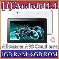 Wholesale 10PCS Google inch Quad core GHz Allwinner A33 Android tablet pc Capacitive GB GB Dual Camera epad Bluetooth USB OTG PB10A