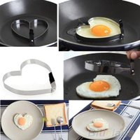 Wholesale Cook Fried Egg Pancake Stainless Steel Heart Shaper Mould Mold Kitchen Tool Rings TP