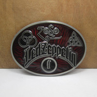 Wholesale Buckle home led zeppelin belt buckle with pewter finish FP