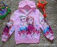 Wholesale Freeshipping Retail kids cartoon Frozen coat girls spring autumn princess Elsa Anna jackets baby lovely outerwear in stock