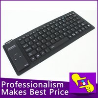 Wholesale-5pcs / lot 84keys plegable flexible impermeable de silicona suave 2.4G bluetooth inalámbrico de teclado para Tablet PC