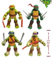 Wholesale 12CM pattern quot PVC Action Figure Teenage Mutant Ninja Turtles Auction figure toys Kids Gift TMNT2016
