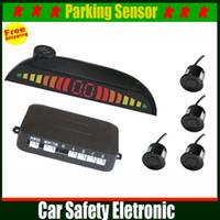 Wholesale Auto Parking Assistance Human Voice Alarm Car LED Display Parking Sensor Monitor Reverse Backup Radar Detector Sensors colors to choose