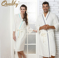 bath gown for men - New Brand Lovers Autumn White Sleepwear Men s Pajamas Nightgown For Men Spa Bathrobes Bath Gown Male Women Casual Robes
