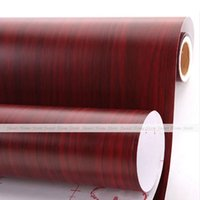 adhesive shelf paper - Home Decor Wall Sticker Wood Grain Self Adhesive DIY Wardrobe Contact Paper Shelf Drawer Liner Wallpaper Sticker Mural x45cm