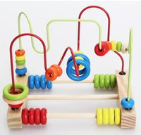 Wholesale Educational Baby Kids Wooden Around Beads Toddler Infant Intelligence Toys Gift D43