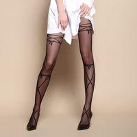 Wholesale Women Pantyhose Hot Sexy Black Stocking Thin Style Tights Spring Summer Ladies Pantyhose Free Size YK0087 salebags