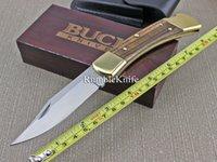 Wholesale Buck Folding Pocket Knife C Blade Zebra With Wood Handle Survival Knife Multi Tool For Rescure Camping Knife