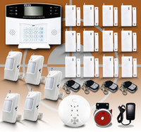 Wholesale New Smart Home Wireless Security Burglar GSM Alarm System with Auto dialer Voice LCD Screen Protect Home Store Good Gift DHL Free