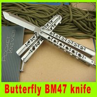 best retail promotions - Promotion Butterfly BM47 Bailisong butterfly knife Combat knfie Outdoor survival pocket knife with retail box best christmas gift L