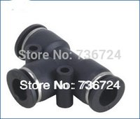Wholesale PE mm to mm union pneumatic tee fittings plastic elbow connector