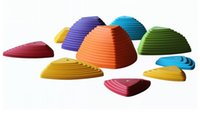 Wholesale River Stepping Stones Walking Game Assorted Sizes Set of Assorted Colors Sensory Training Equipment