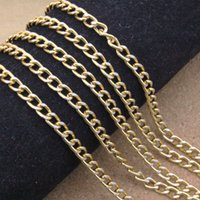 Wholesale 5 Meters mm Bulk Aluminum Curb Chain Gold Necklace Jewelry Findings DIY Material F1649