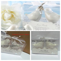 Wholesale Newest Love birds salt and Pepper shaker wedding decoration gift For wedding party favor and wedding souvenirs boxes