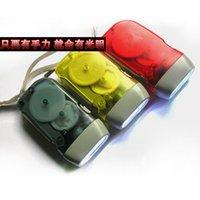 Wholesale Manual self generating flashlight hand pressure led mini self charging flashlight Hand Pressing Flashlight