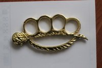 Wholesale NEW Mermaid THICK STEEL BRASS KNUCKLE DUSTERS BUCKLE