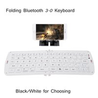 Wholesale Folding Wireless Bluetooth Keyboard for iPhone iPad iPod Google Samsung Android Smartphone Tablet Laptop